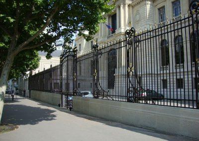 Grilles et portail de la CCI Paris