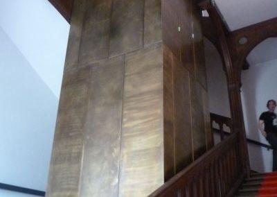 Abbaye de Royaumont - Habillage gaine ascenseur